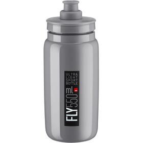 Elite Fly Trinkflasche 550ml grey/black logo